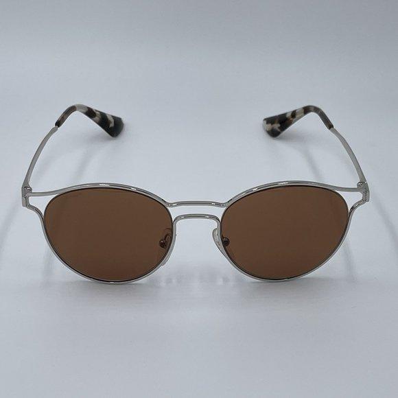 PRADA SPR62S - Silver & Brown Aviator Sunglasses NWT